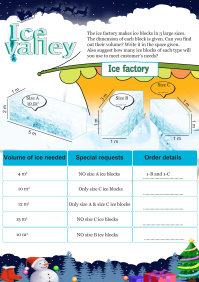 Ice Valley worksheet