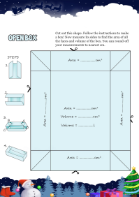 Open Box worksheet