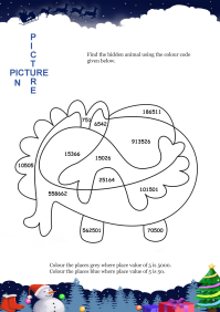 Picture In Picture Whale worksheet