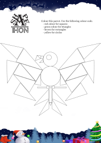 Shapethon Parrot worksheet