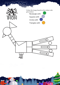 Shapethon Peacock worksheet