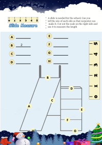 Slide Measure worksheet
