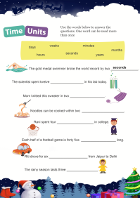 Time Units worksheet