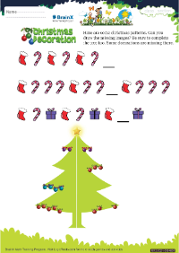 Christmas Decoration worksheet
