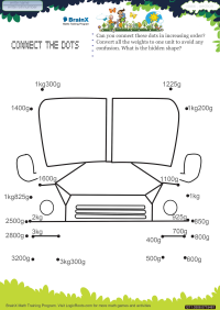 Connect The Dots Bus worksheet