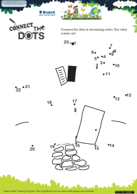 Connect The Dots Hut worksheet