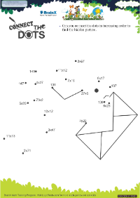 Connect The Dots Pigeon worksheet