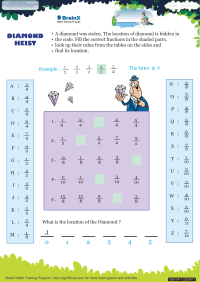 Diamond Heist worksheet