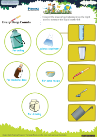 Every Drop Counts worksheet
