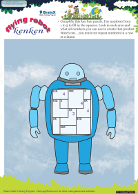 Flying Ken Ken Robot worksheet
