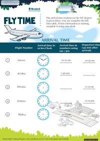 Fly Time worksheet