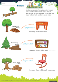 Furniture worksheet