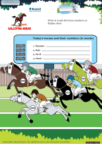Galloping Ahead worksheet