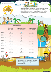 Golden Egg Hen worksheet
