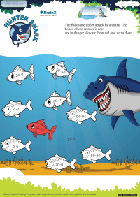 Hunter Shark worksheet