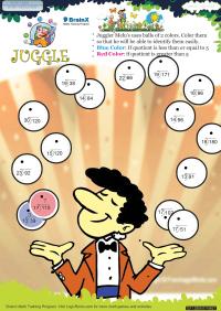 Juggle worksheet