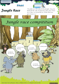Jungle Race worksheet
