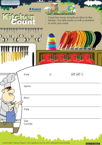 Kitchen Count worksheet