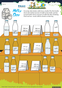Milky Day worksheet