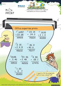 Miss Print worksheet