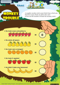 Monkey Trouble worksheet