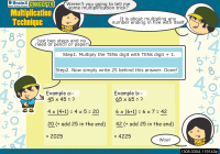 Multiplication Technique worksheet