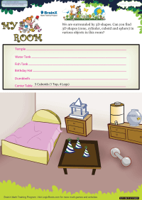 My Room worksheet