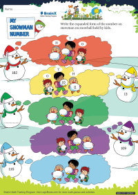 My Snowman Number worksheet