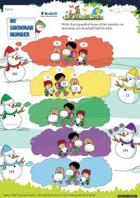 My Snowman Number worksheet