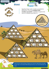 Number Pyramid worksheet