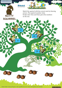 Nutty Squirrel worksheet