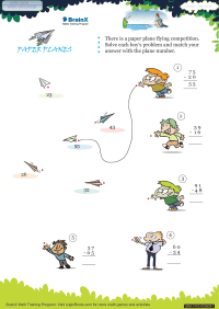 Paper Planes worksheet