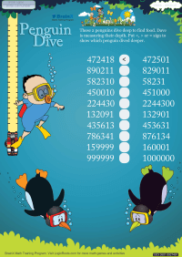 Penguin Dive worksheet