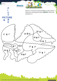 Picture In Picture Crocodile worksheet