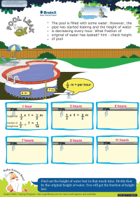 Pool Leak worksheet