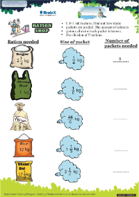 Ration Shop worksheet
