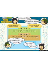 Reading Roman Numerals worksheet