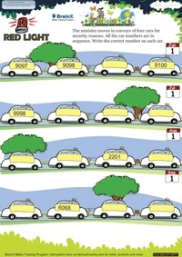 Red Light worksheet
