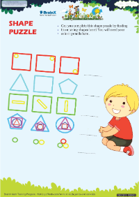 Shape Puzzle worksheet