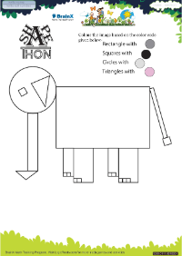 Shapethon Elephant worksheet