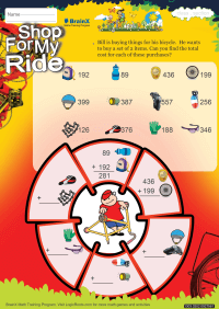 Shop For My Ride worksheet