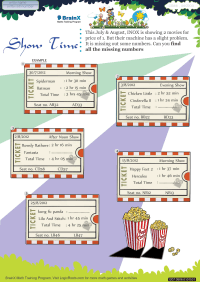 Show Time worksheet
