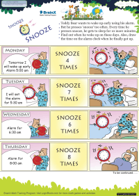 Snooze Snooze worksheet