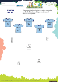 Starting Line Up worksheet