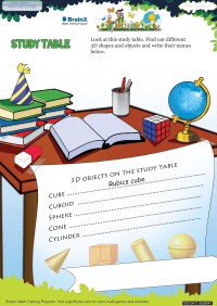 Study Table worksheet