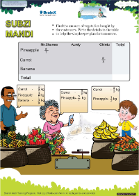 Subzi Mandi worksheet