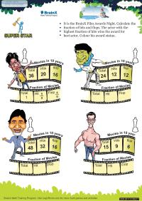 Super Star worksheet