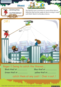 Swinging Superhero worksheet