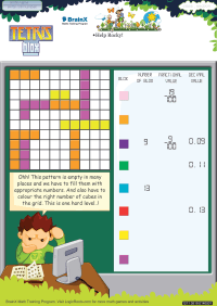 Tetris Blox worksheet