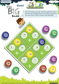 The Big Game worksheet
